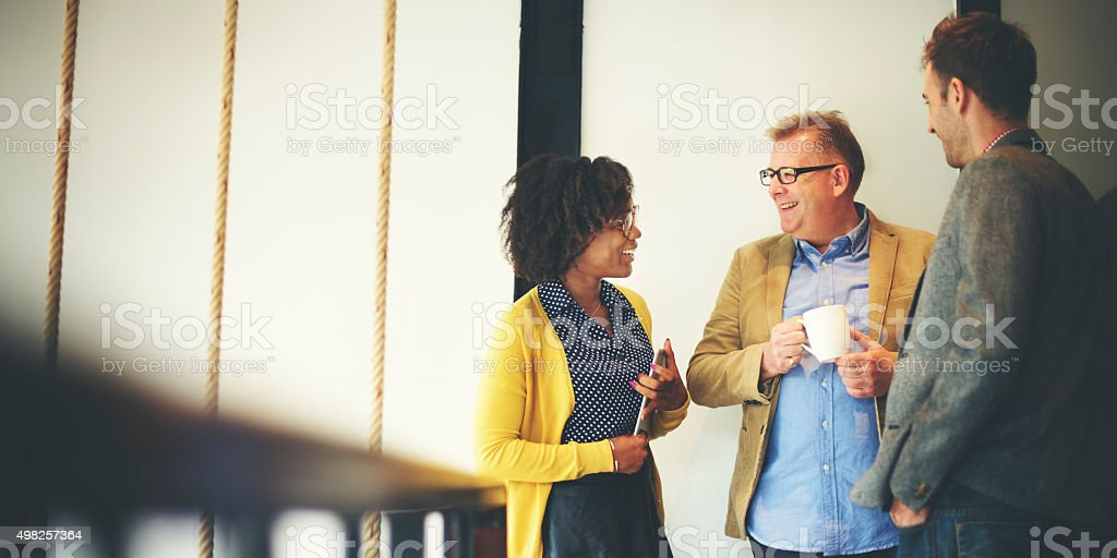 Business Team Coffee Break Relax Concept stock photo