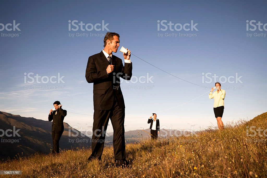 Business Team Communicating Outdoors. royalty-free stock photo