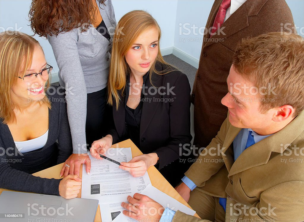 Business team discussing royalty-free stock photo