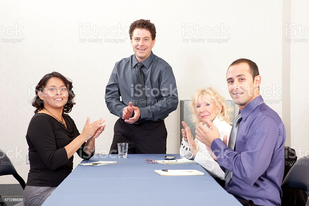 Business team giving applauds royalty-free stock photo