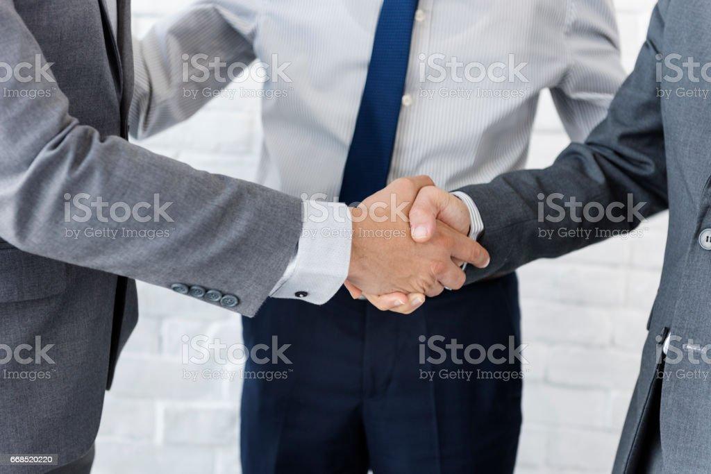 Business Team Handshake Collaboration Concept stock photo
