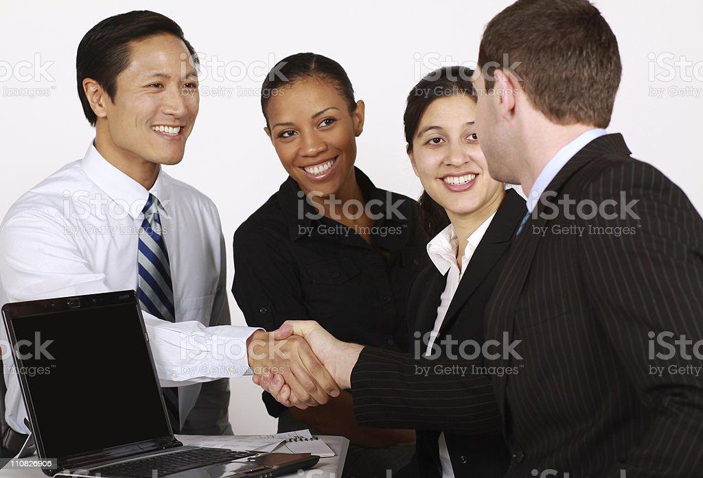 Affaires équipe de poignée de main photo libre de droits