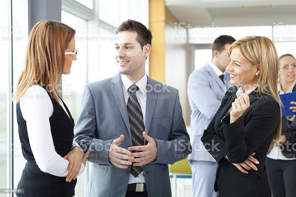 Business team having a conversation . royalty-free stock photo