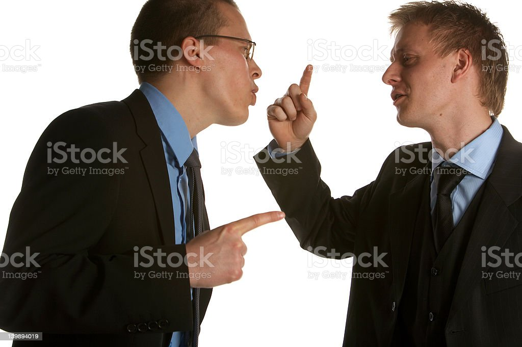 Business team in a dispute royalty-free stock photo