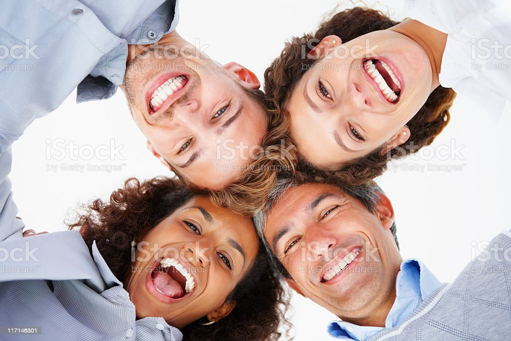Business team in a huddle royalty-free stock photo