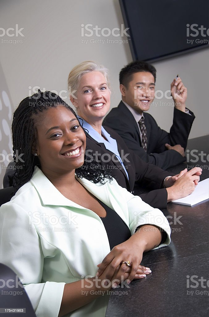 Business Team in  a Line royalty-free stock photo