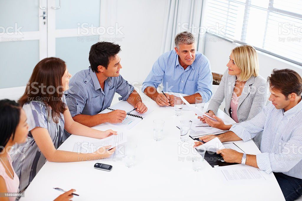 Business team in a meeting royalty-free stock photo