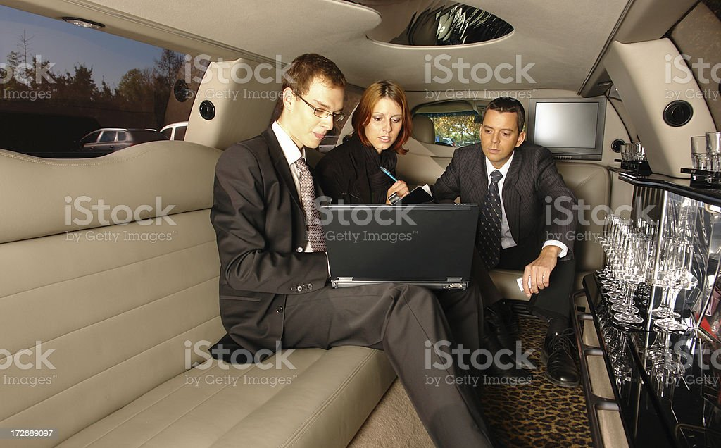 Business Team in Limo royalty-free stock photo