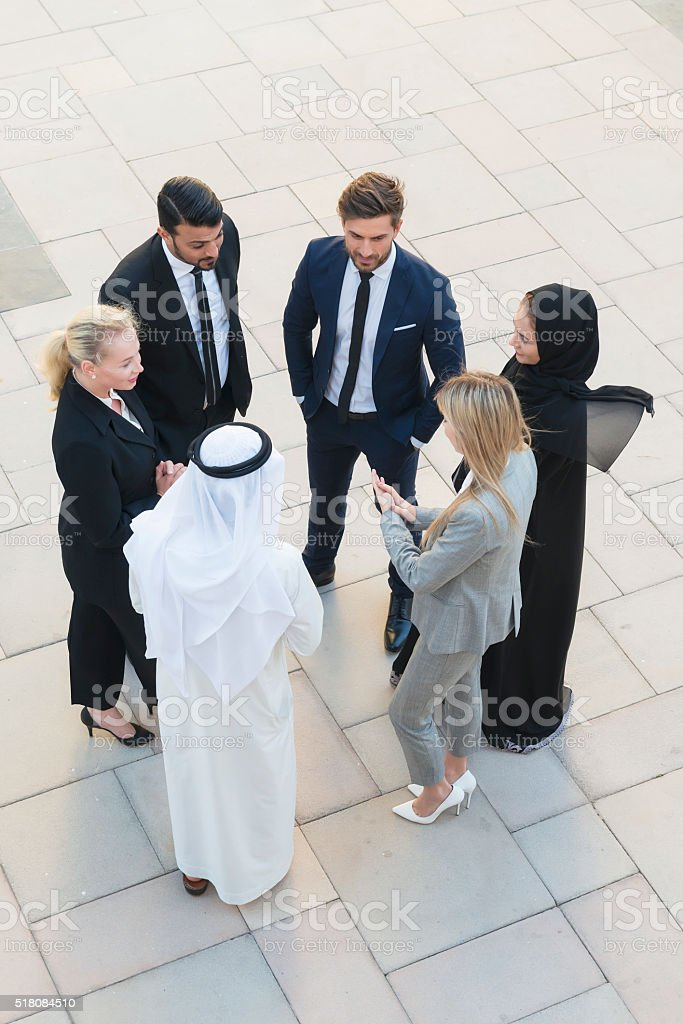 Business team in Middle East stock photo