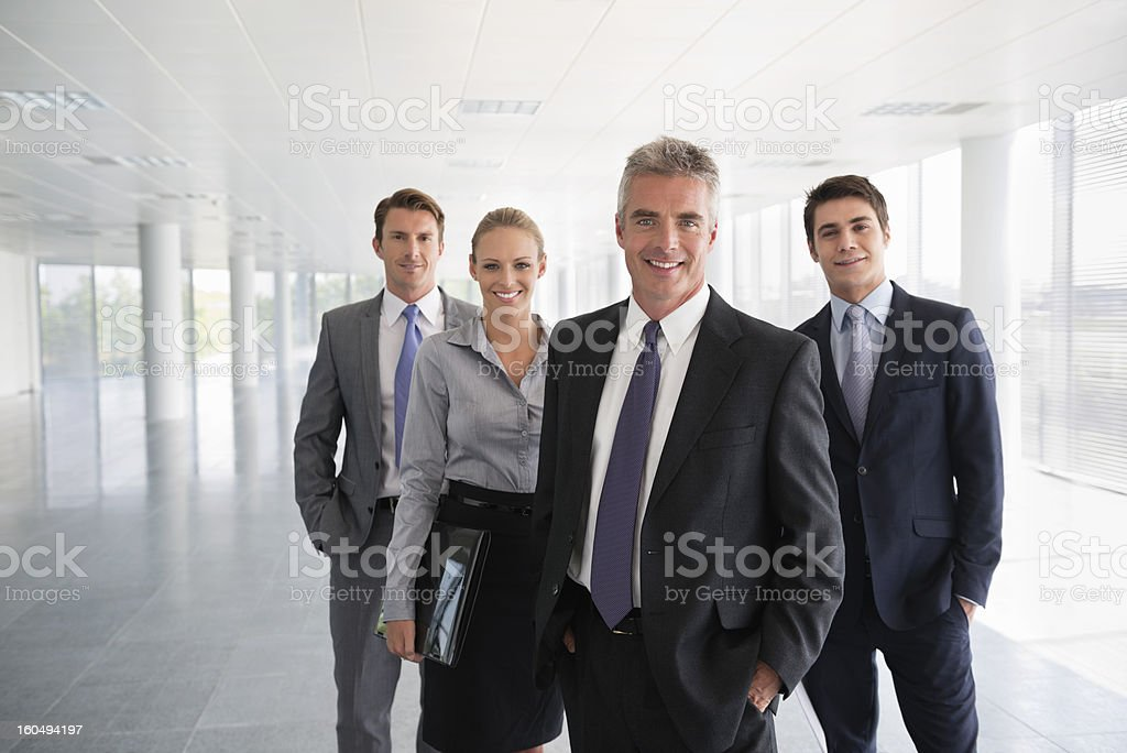 Business Team In Office Building royalty-free stock photo