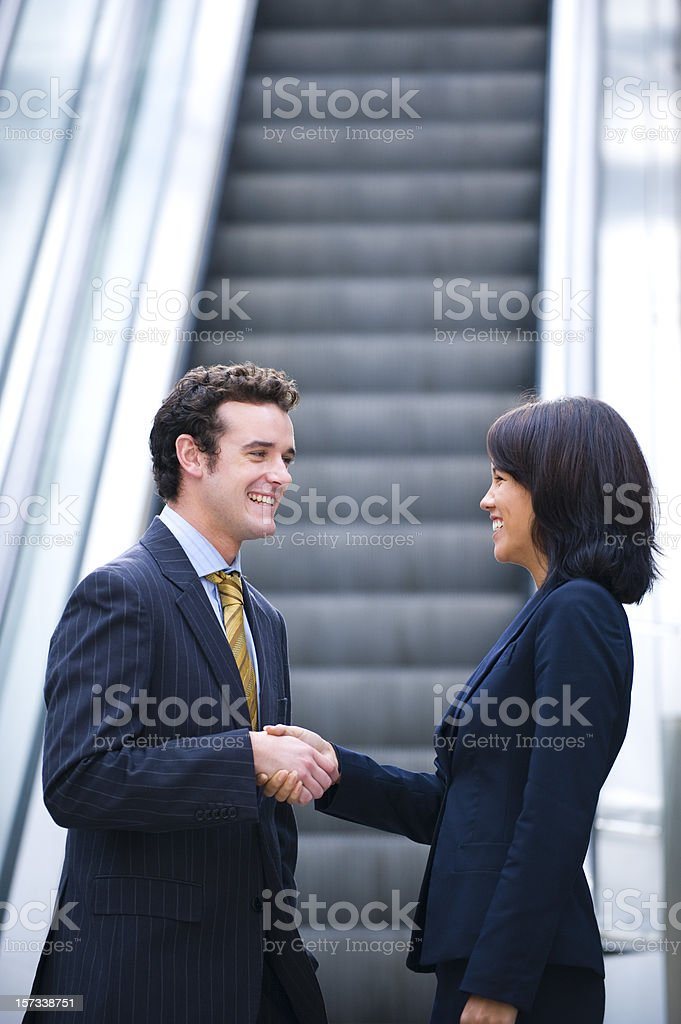 Business team in the city royalty-free stock photo