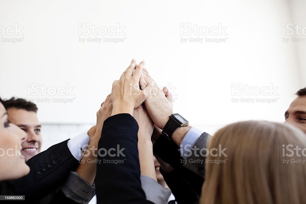 Business team joining hands royalty-free stock photo