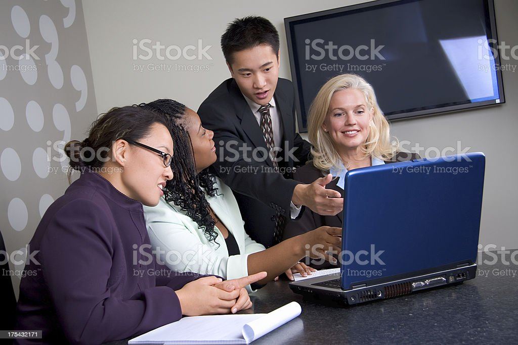 Business Team Laptop Meeting royalty-free stock photo