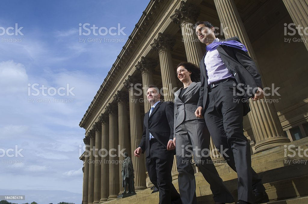 business team leaving court royalty-free stock photo