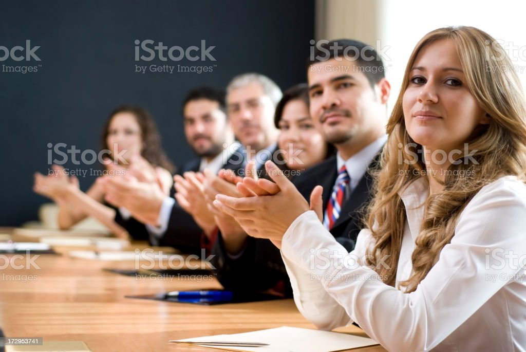 Business team line up royalty-free stock photo