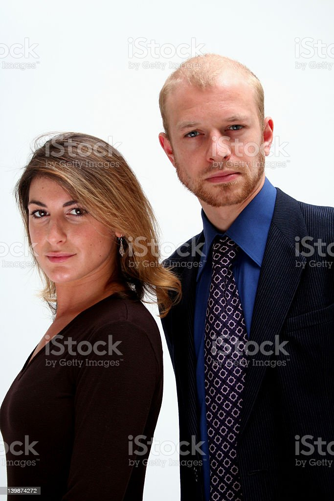 business team - man and woman royalty-free stock photo