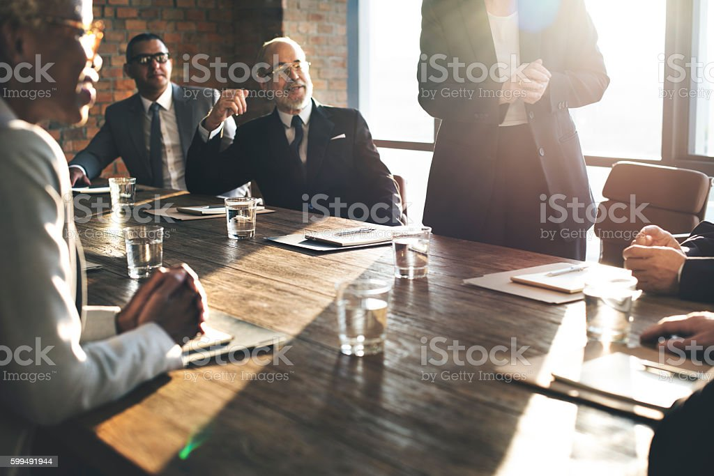 Business Team Meeting Brainstorming Togetherness Concept stock photo