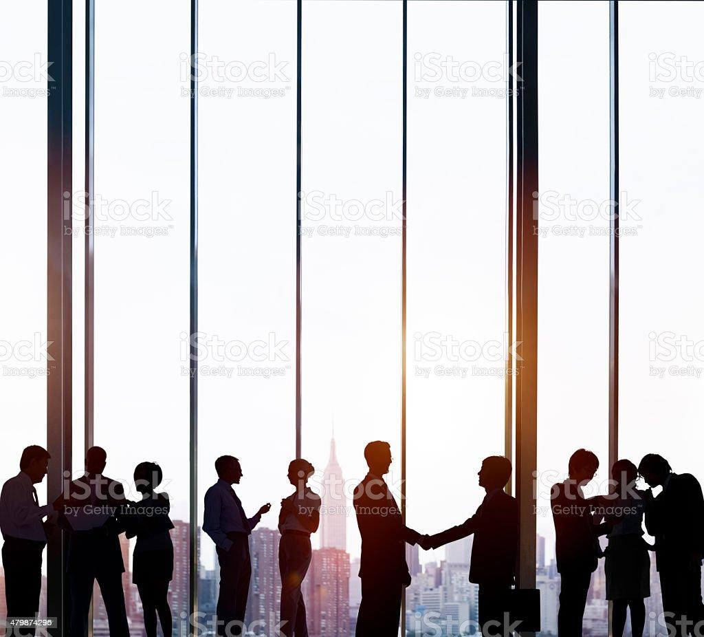 Business Team Meeting Corporate Partnership Concept stock photo