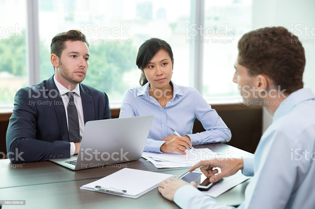Business Team Meeting in Office 3 stock photo