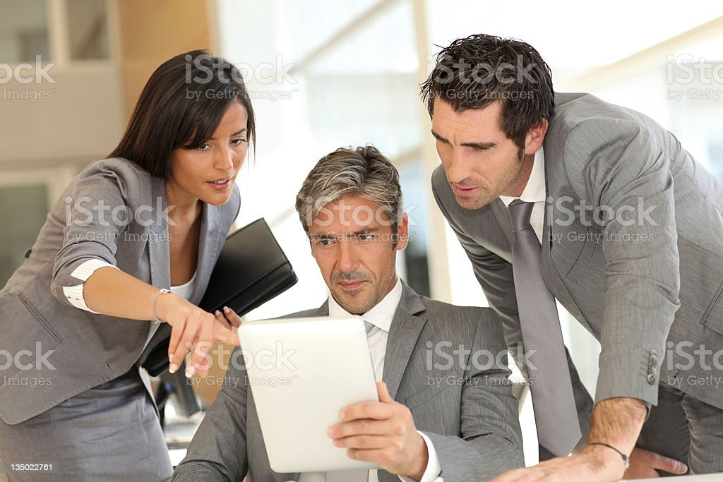 Business team meeting in office royalty-free stock photo