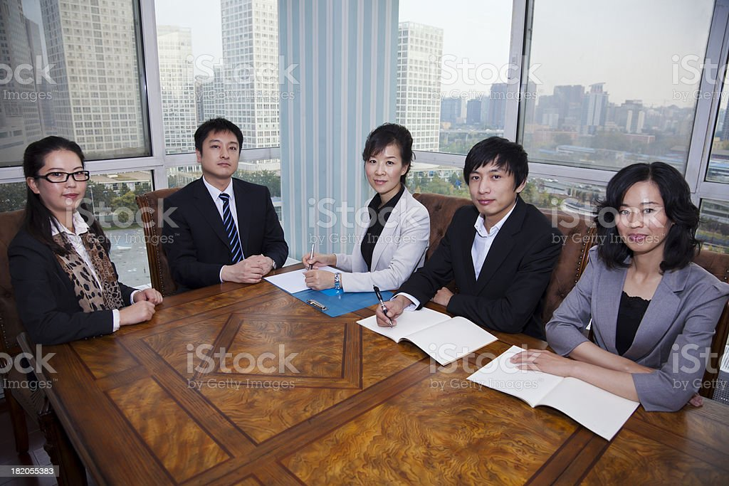 Business team meeting in the conference room royalty-free stock photo