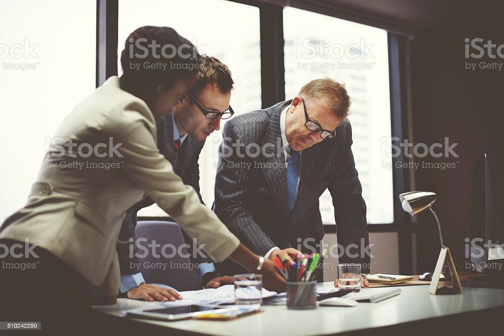 Business Team Meeting Organization Corporate Concept stock photo
