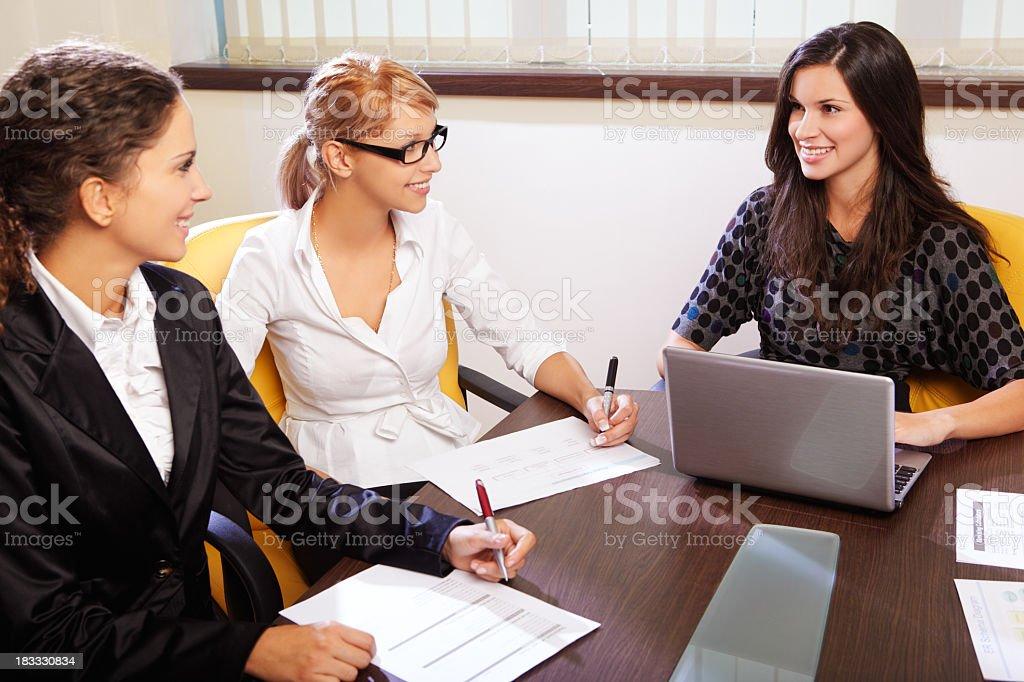 Business team meeting stock photo