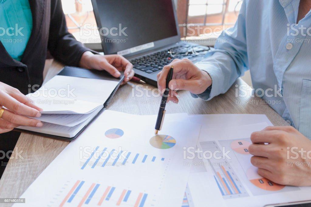 Business team meeting present stock photo