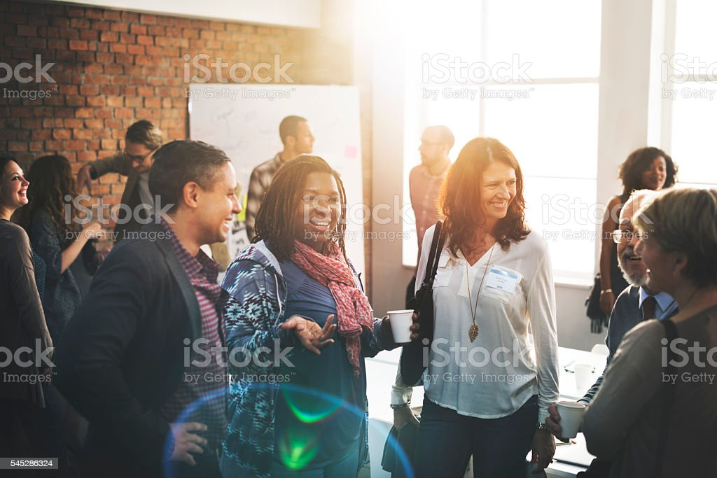 Business Team Meeting Working Talking Concept stock photo