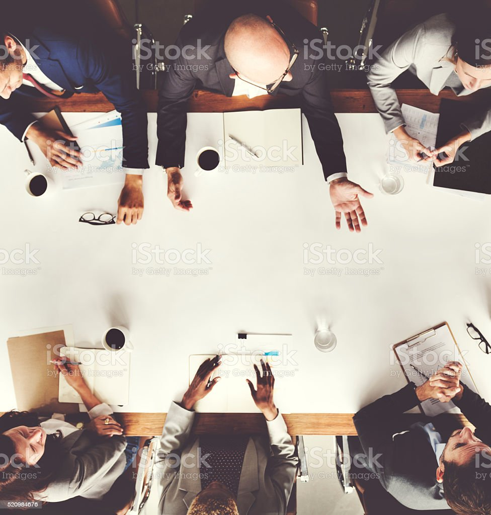 Business Team Meetng Planning Strategy Concept stock photo