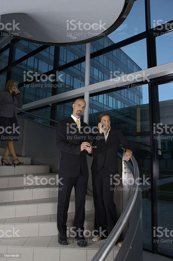 Business Team on the stairs royalty-free stock photo