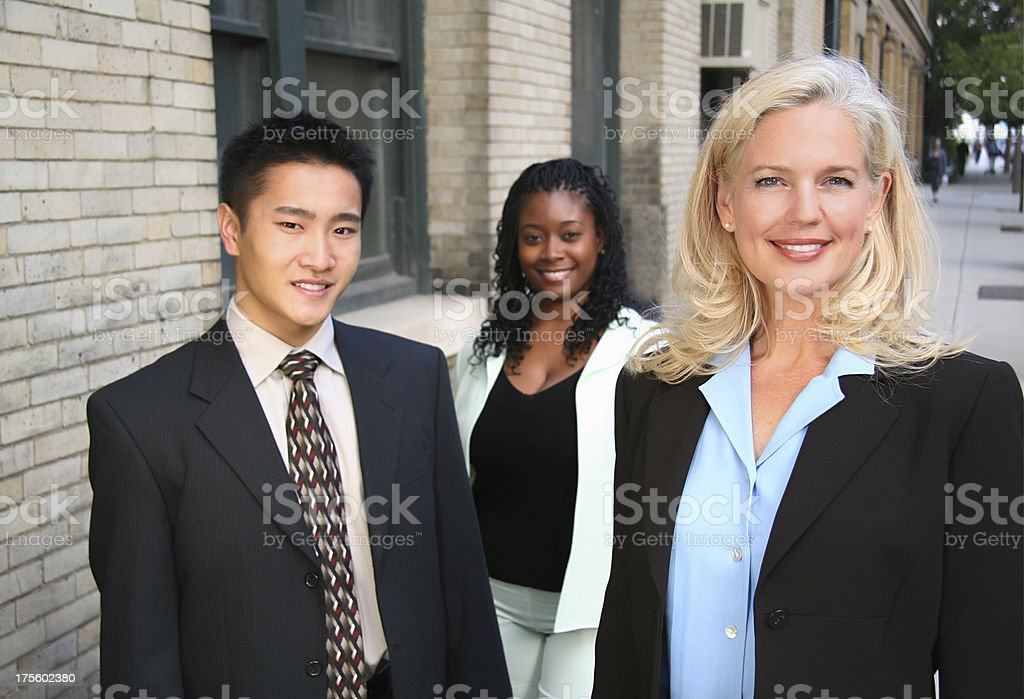 Business Team Outside 2 royalty-free stock photo