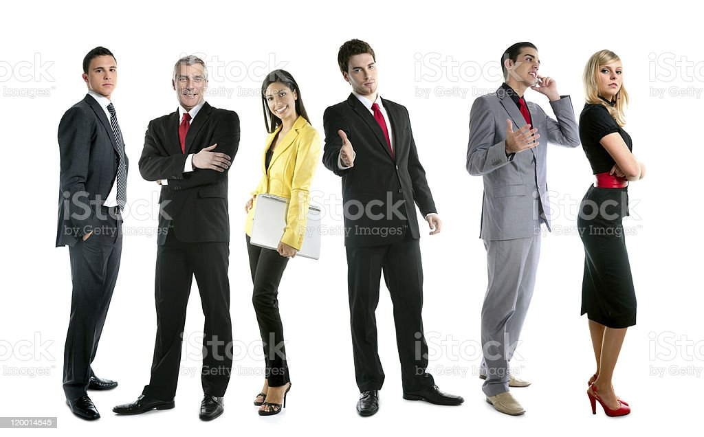 Business team people group crowd full length royalty-free stock photo