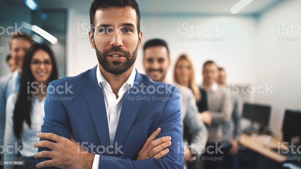 Business team. stock photo
