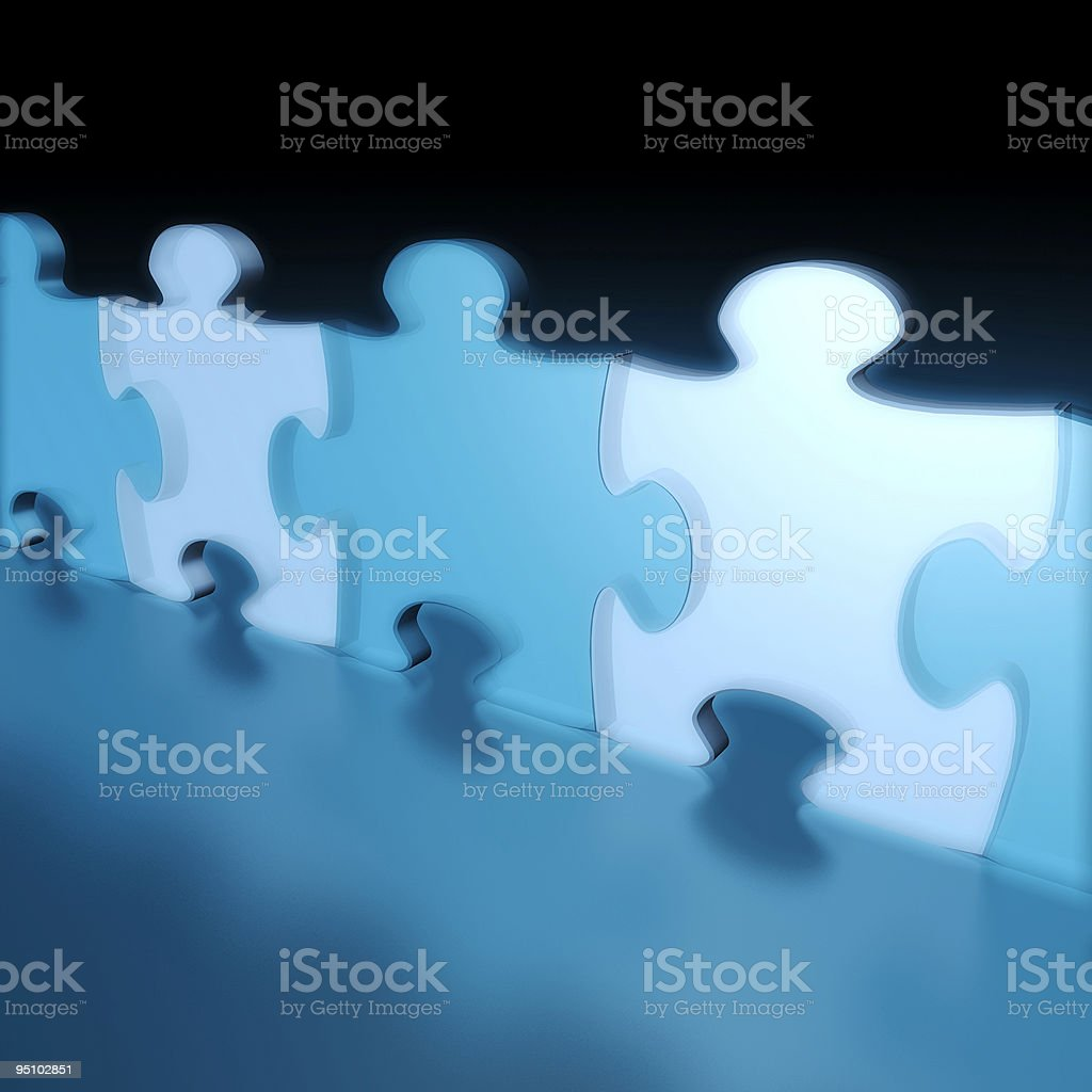 Business Team Puzzle royalty-free stock vector art