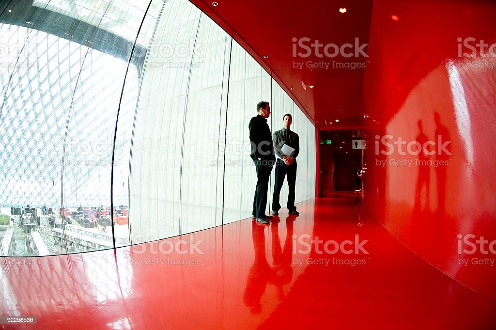 Business Team - Red Room 1 royalty-free stock photo