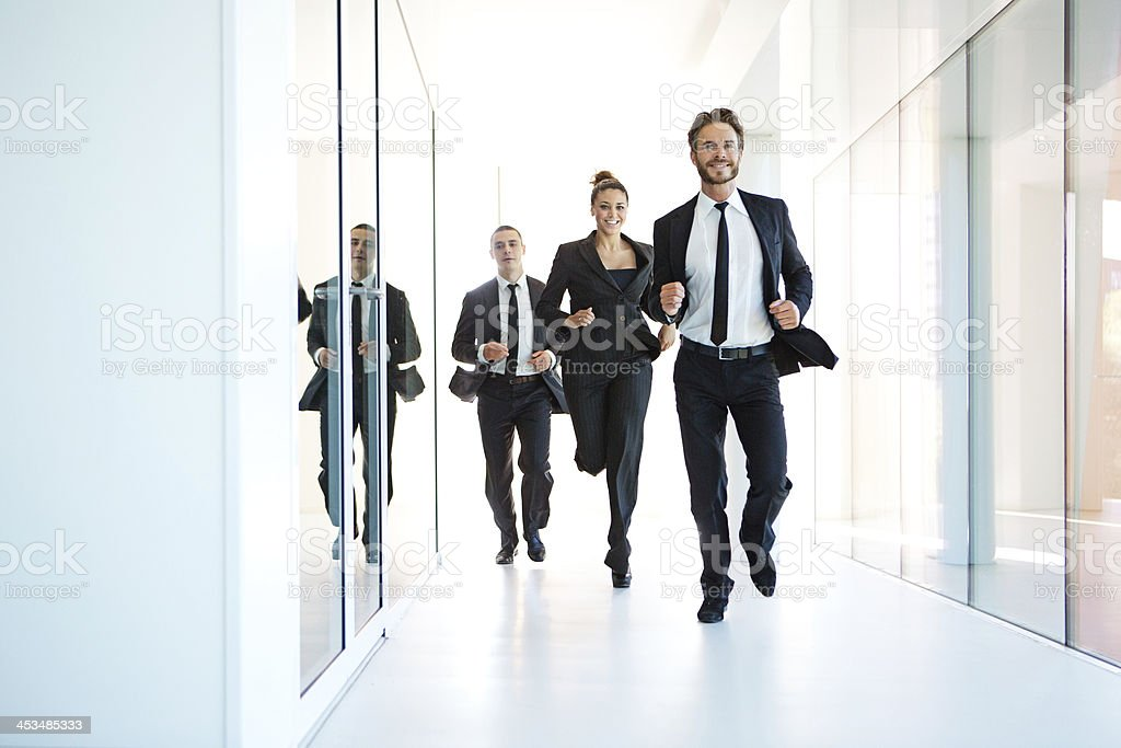 business team running royalty-free stock photo