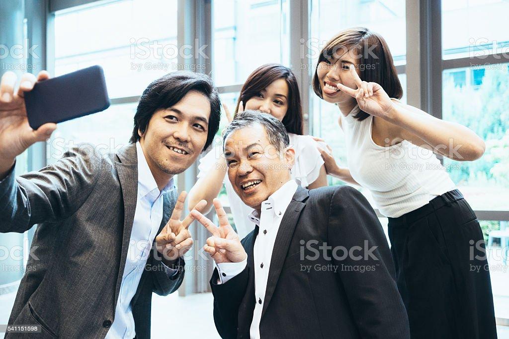 Business Team Selfie stock photo