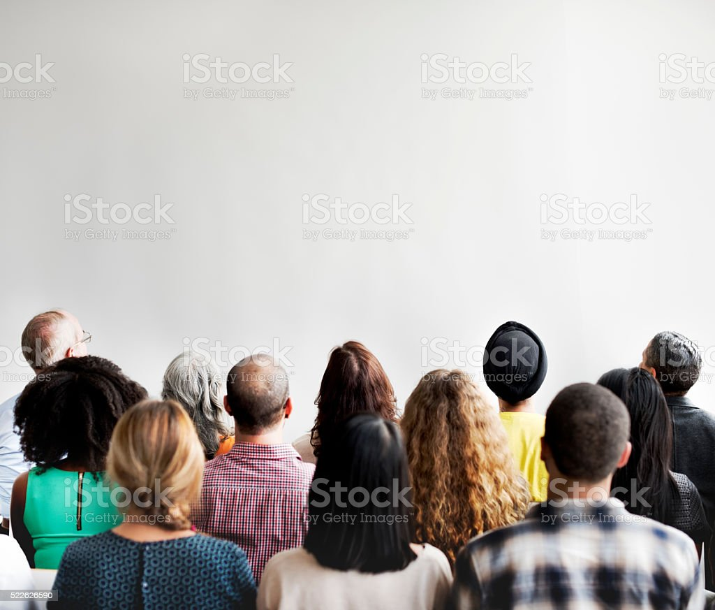 Business Team Seminar Conference Audience Concept stock photo