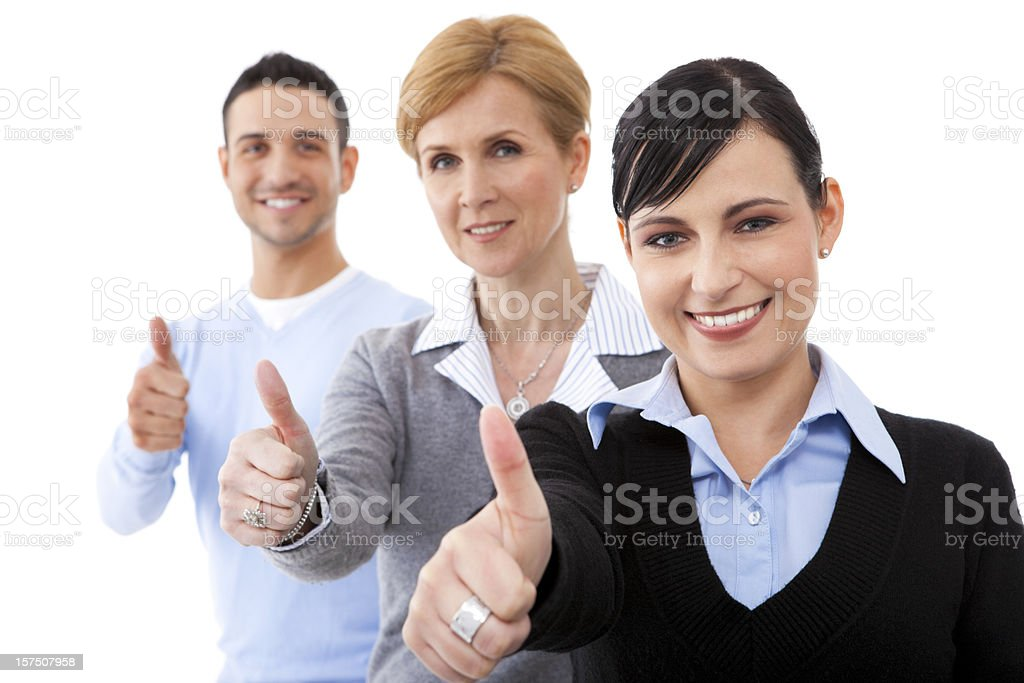 Business team showing success royalty-free stock photo