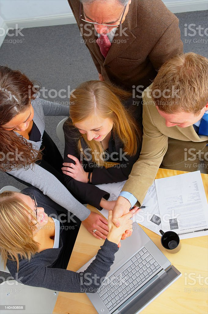 Business team showing unity royalty-free stock photo