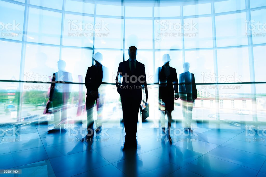 Business team silhouette stock photo