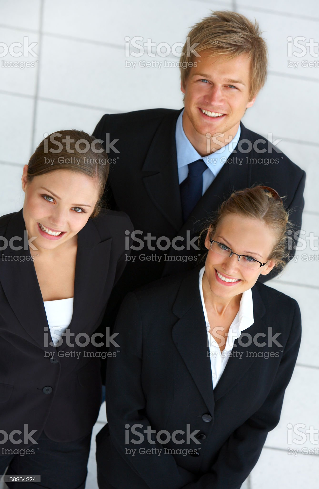 Business team supporting a leader royalty-free stock photo