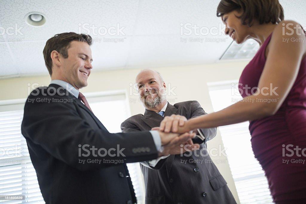 Business Team Symbolizing Unity And Teamwork royalty-free stock photo