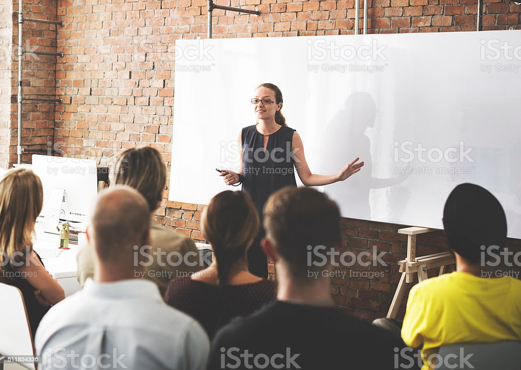Business Team Training Listening Meeting Concept stock photo