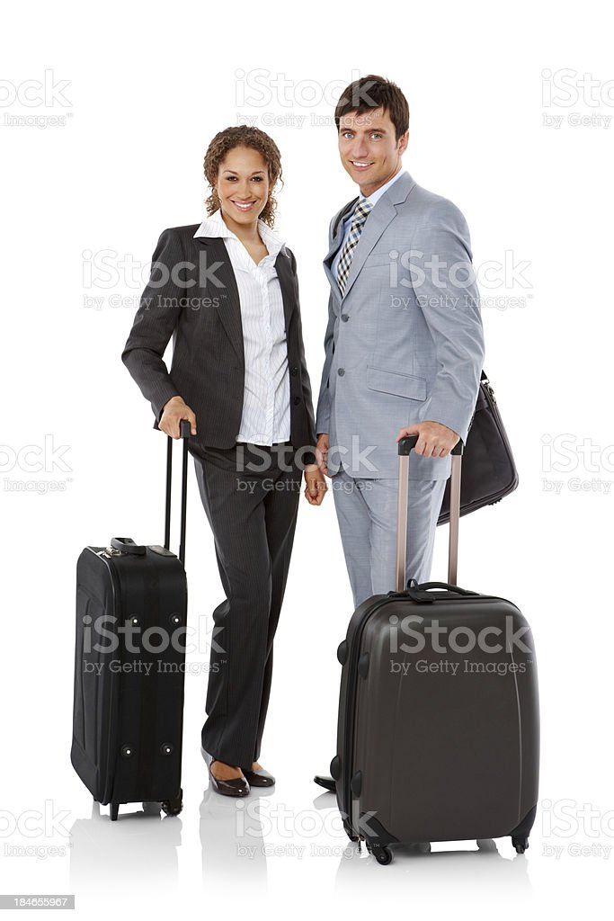 Business Team Traveling - Isolated royalty-free stock photo