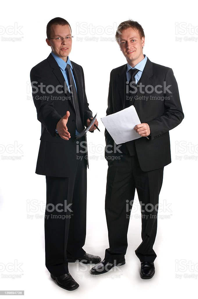 Business team welcoming you as a partner. royalty-free stock photo