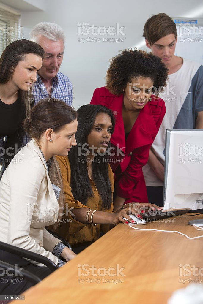 Business Team With Computer stock photo