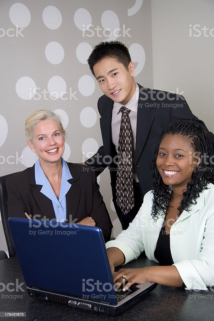 Business Team with Laptop royalty-free stock photo