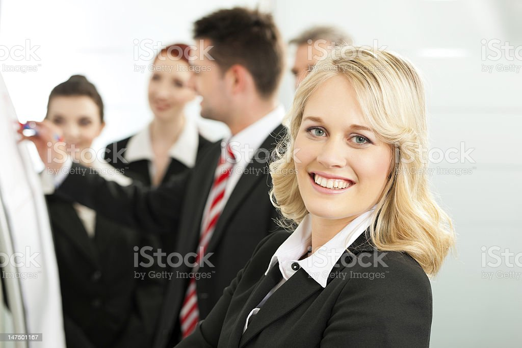 Business Team with leader in office royalty-free stock photo